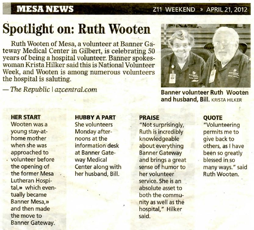 Bill and Ruth Wootten