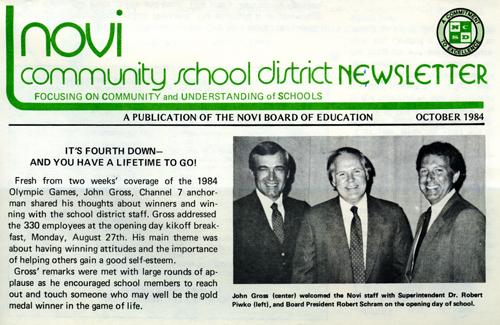 John Gross Speaks at Novi, Michigan, School
