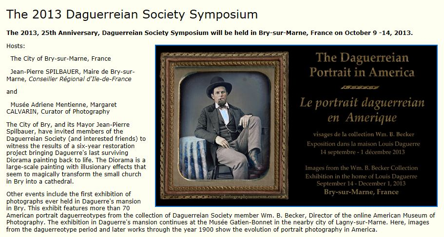 The 2013 Daguerreian Society Symposium