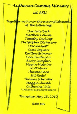 2010 Graduation Banquet