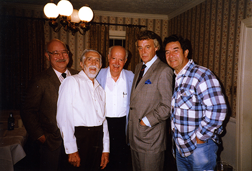 Clyde Adler, Chris Montross, Lyle Reese, Bill Bonds and Jerry Zuckerman