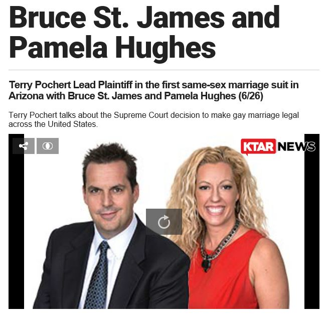 Bruce St. James and Pamela Hughes