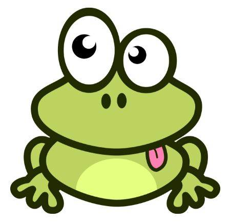 Frog with tongue of praise.