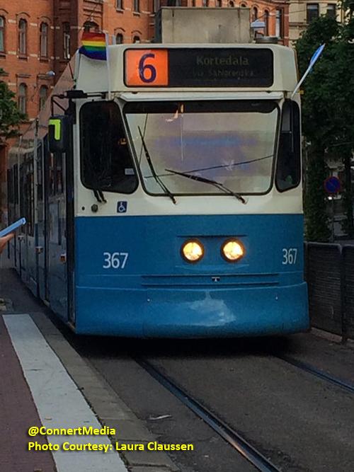 Tram / Bus in Gothenburg, Sweden