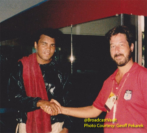 Mohammad Ali with Geoff Pekarek